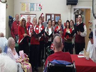 Click Photo to Enlarge - Outreach Singers at Tehachapi Hospital!